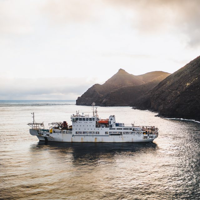 AMT was vessel agent of the Teliri cable layer in Saint Helena